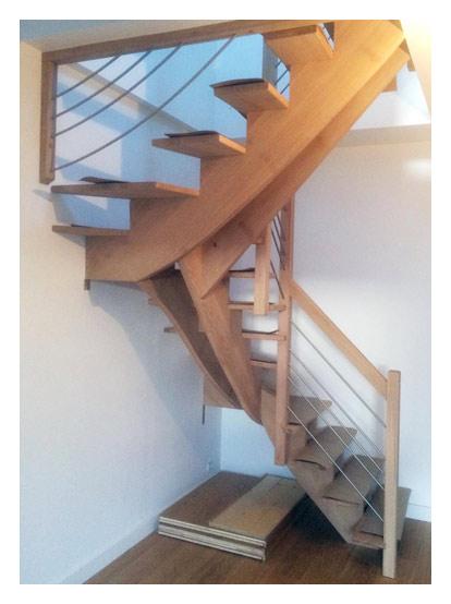 installation d escaliers en bois sur mesure paris